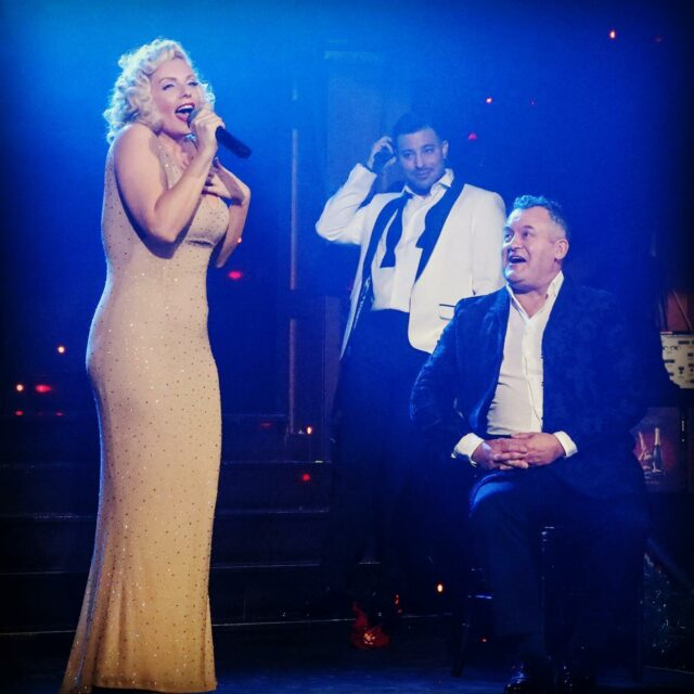 Keeping with a royal theme here's me serenading my stage husband @officialpaulburrell on stage at @proudembankment back in December. He was such a gent and a delight to talk to 💕 . . @proudcabaret  I can't wait to get back to the stage and create more magic moments like this with @mrduncanjames.  . . . #londonlife #cabaret #lifeisacabaret #show #royals #duncanjames #paulburrell #marilynmonroe #happybirthday #blonde #singer #sundayfunday #photooftheday #comedy