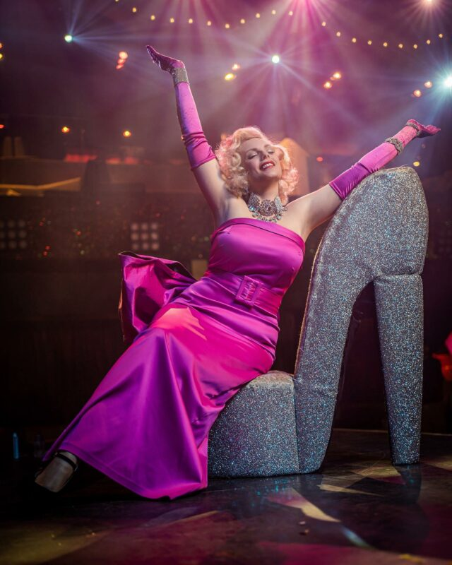 Get me back to my happy place 🌟 . . Counting down the days till I get back on stage @proudcabaret with the wonderful cast.  . . So you've been out this week got your hair done, nails done bought a fancy outfit .  . . Now why not treat yourself to somewhere to go enjoy yourself too !  . . Book your tickets to our killer comeback in May. I've even got a cheeky discount for you use code ISABELLA15 to grab 15% off for a limited time only. . . See you there 💕 . . Photo by @ianbowkett  #showtime #comeback #cabaret #pinkdress #diamondsareagirlsbestfriend #stage #shoesaddict #blondehair #50sstyle #oldhollywoodglamour #redlipstick #diamonds #cabaretshow #londonlife #love #happyplace