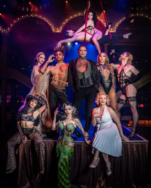 """Where can you see me this Thursday , Friday and Saturday 👀 . . Sharing the stage with this fabulous team of talent humans of course @proudcabaret Embankment.  . . Let """"Cabaret All Stars"""" take you on a journey of glamour and wonderment in the west ends most opulent venue. . . Use code ISABELLA15 when booking Thursdays or Fridays to get 15% off  . . Photo by @ianbowkett  #cabaret #cabaretshow #music #liveshows #londonlife #londoncity #showgirls #showboys #theatrelife #cometothecabaret #proud #proudembankment #proudcabaret #allstars #showpeople"""