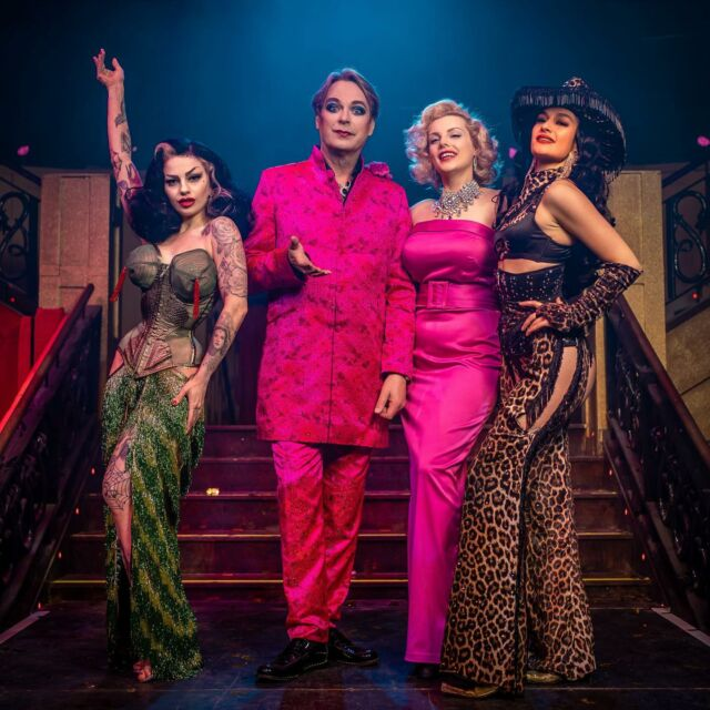 Just a few more shows left this week with the wonderful Julian Clary @proudcabaret Embankment . . Julian has truly been a joy to work with and it's been an honour to share the stage with such a comedic legend.  . . Catch the last remaining chances to see the king of camp live. . . With my show sisters @dressedtokillyou @jessicats_  . . Photo by @ianbowkett  #kingofcamp #proudcabaret #showtime #comedylegend #icons #britishicon #pinkdress #livecomedy #londonlife #londoncitylife #embankment #showgirls #cabaret #burlesque #burlesqueshow