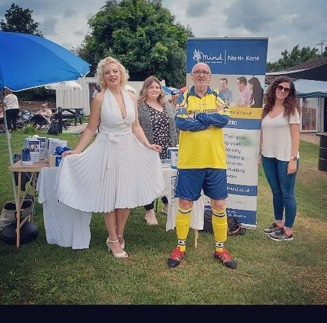Last Sunday I had the honour of helping out at a charity football match organised by lovely musicians to raise money and awareness for @mindcharity   Proud to say we raised over £600 for the charity and good fun was had all round.  Amazing 🙏🏻💕 . . #mentalhealthawareness #mentalhealthmatters #mind #helpeachother #bekind #supportcharity #charityfundraiser #football #sundayfunday #kindness #whitedress #blondehair